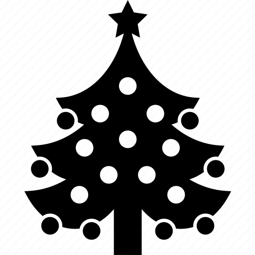 christmas, forest, star, tree, winter, xmas icon