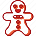 avatar, christmas, cookie, decoration, gingerbread man icon