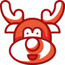 animal, avatar, christmas, reindeer