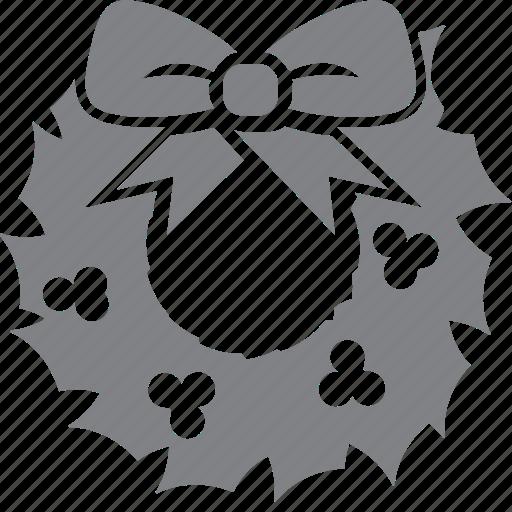 celebration, christmas, decoration, holiday, winter, wreath, xmas icon