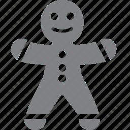 christmas, food, gingerbread, gingerbread man, holiday, man, xmas icon
