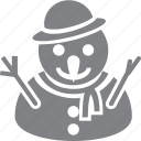 christmas, decoration, holiday, man, snow, snowman, xmas icon