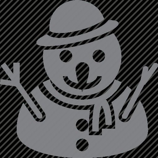 christmas, decoration, holiday, man, snow, snowman, xmas icon