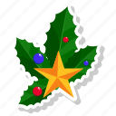 bells, christmas, christmas bells, leaf, leafs, star icon do icon