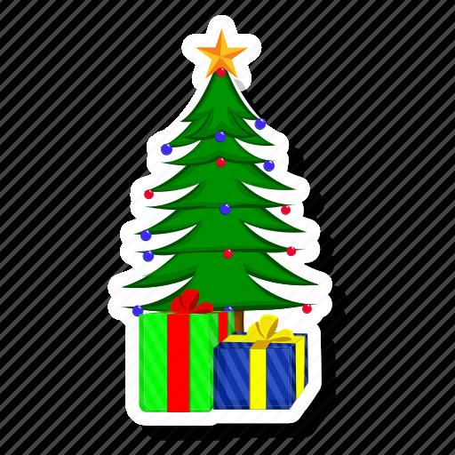 birthday, box, celebration, christmas, gift, present, tree icon