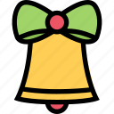 bell, christmas, notification, ring, time, xmas icon