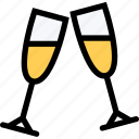 alcohol, champagne, christmas, drink icon