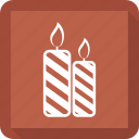 candle, christmas, festive candle, fire icon