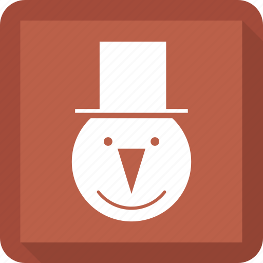 christmas, new year, snowman icon