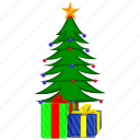 birthday, box, celebration, christmas, gift, present, tree icon