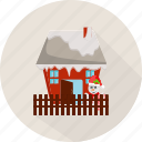 full santa claus, winter, house, santa, holiday, christmas, santa claus