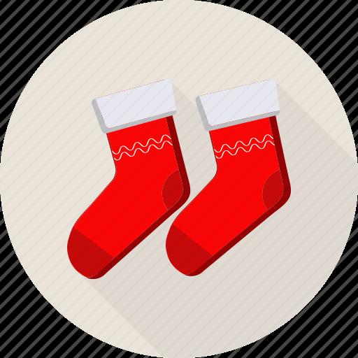 christmas, fashion, foot, footwear, gift, sock icon