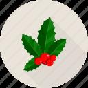 bells, christmas, christmas bells, leaf, leafs icon