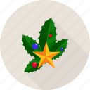 leaf, christmas bells, leafs, star, christmas, bells