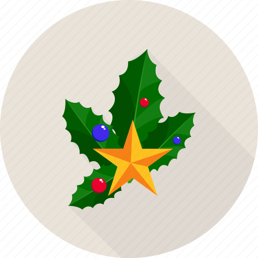 bells, christmas, christmas bells, leaf, leafs, star icon