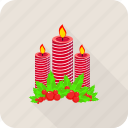 candle, christmas, decoration, dinner icon