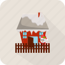 christmas, full santa claus, holiday, house, santa, santa claus, winter icon