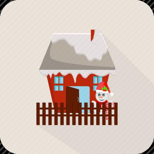 christmas, full santa claus, holiday, house, santa, santa claus, winter icon