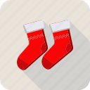 christmas, fashion, foot, footwear, gift, sock icon