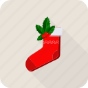 christmas, gift, sock icon