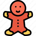 bear, gift, gingerbread, man icon