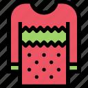 christmas, pullover, snowflake, sweater, winter, xmas