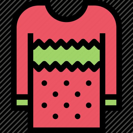 christmas, pullover, snowflake, sweater, winter, xmas icon