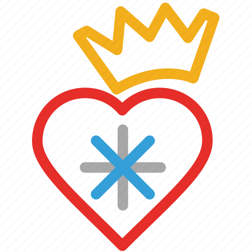 candies, celebrations, crown shape candy, heart shape candy icon