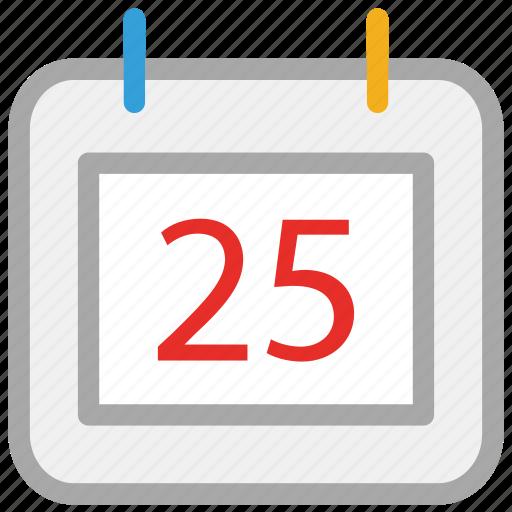 calendar, christmas, twenty fifth, xmas icon
