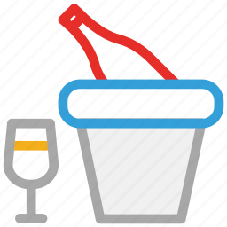 alcohol, beverage, bottle, glass icon