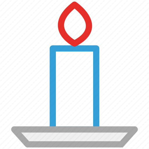 candle, decorations, light, night candle icon