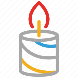 birthday, candle, christmas, votive candle icon