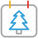 calendar, christmas, christmas tree, event icon
