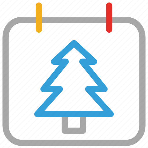 calendar, christmas, christmas tree, event icon