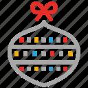 bauble, celebrations, decorations, xmas icon