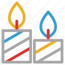 candles, christmas candles, decorative candles, votive candles icon