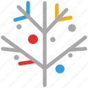 celebration, decorated branch, decorations, tree decorated branch icon