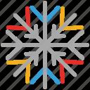 christmas, decorations, snowflake, winter icon