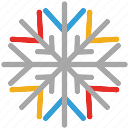 christmas, decorations, snowflake, winter icon