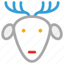 christmas, deer, reindeer, xmas icon
