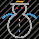 christmas, snow, snowman, winter icon