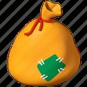sack, gift, santa, presents icon