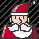avatar, celebration, christmas, claus, santa, user, xmas icon