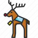 animal, christmas, deer, pet, reindeer, wild, zoo icon