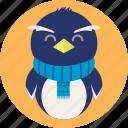 cold, ice, penguin, snow, snowflake, winter icon