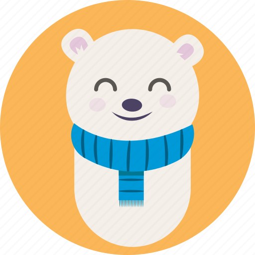 animal, avatar, bear, cute, pet, teddy, white icon