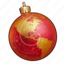 ball, christmas, decoration, holiday, new year, ornament, xmas icon