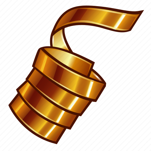 christmas, confetti, gold, golden, new year, ribbon, xmas icon