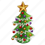 ball, celebration, chritmas, december, green, holiday, new year, star, tree, winter, xmas icon