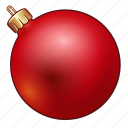 ball, celebration, christmas, decoration, holiday, new year, ornament, red, xmas icon